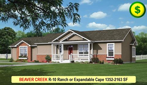 BEAVER CREEK R-10 Ranch or Expandable Cape 1352-2163 SF Crop