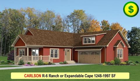 CARLSON R-6 Ranch or Expandable Cape 1248-1997 SF Crop