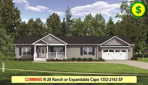 CUMMINS R-28 Ranch or Expandable Cape 1352-2163 SF Crop