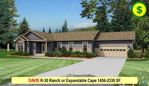 DAVIS R-30 Ranch or Expandable Cape 1456-2330 SF Crop