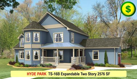HYDE PARK TS-16B Expandable Two Story 2576 SF Crop