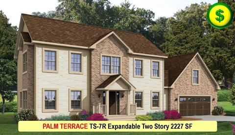 PALM TERRACE TS-7R Expandable Two Story 2227 SF Crop