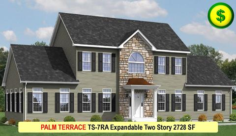 PALM TERRACE TS-7RA Expandable Two Story 2728 SF Crop