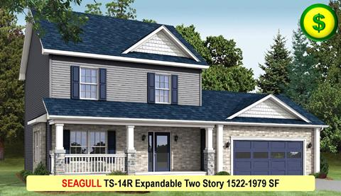 SEAGULL TS-14R Expandable Two Story 1522-1979 SF Crop