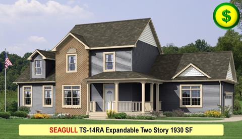 SEAGULL TS-14RA Expandable Two Story 1930 SF Crop