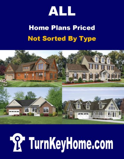 All Home Plans Priced