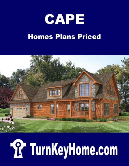 Cape Home Plans Priced