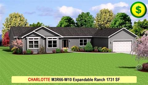 Liberty Homes CHARLOTTE M3R66-W10 Expandable Ranch 1731 SF 480x277