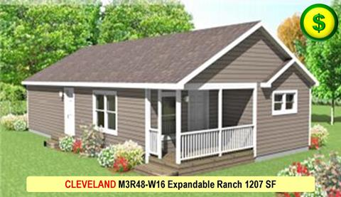 Liberty Homes CLEVELAND M3R48-W16 Expandable Ranch 1207 SF Crop 480x277