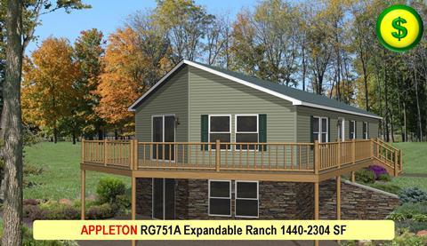 APPLETON RG751A Expandable Ranch 1440-2304 SF 480x277