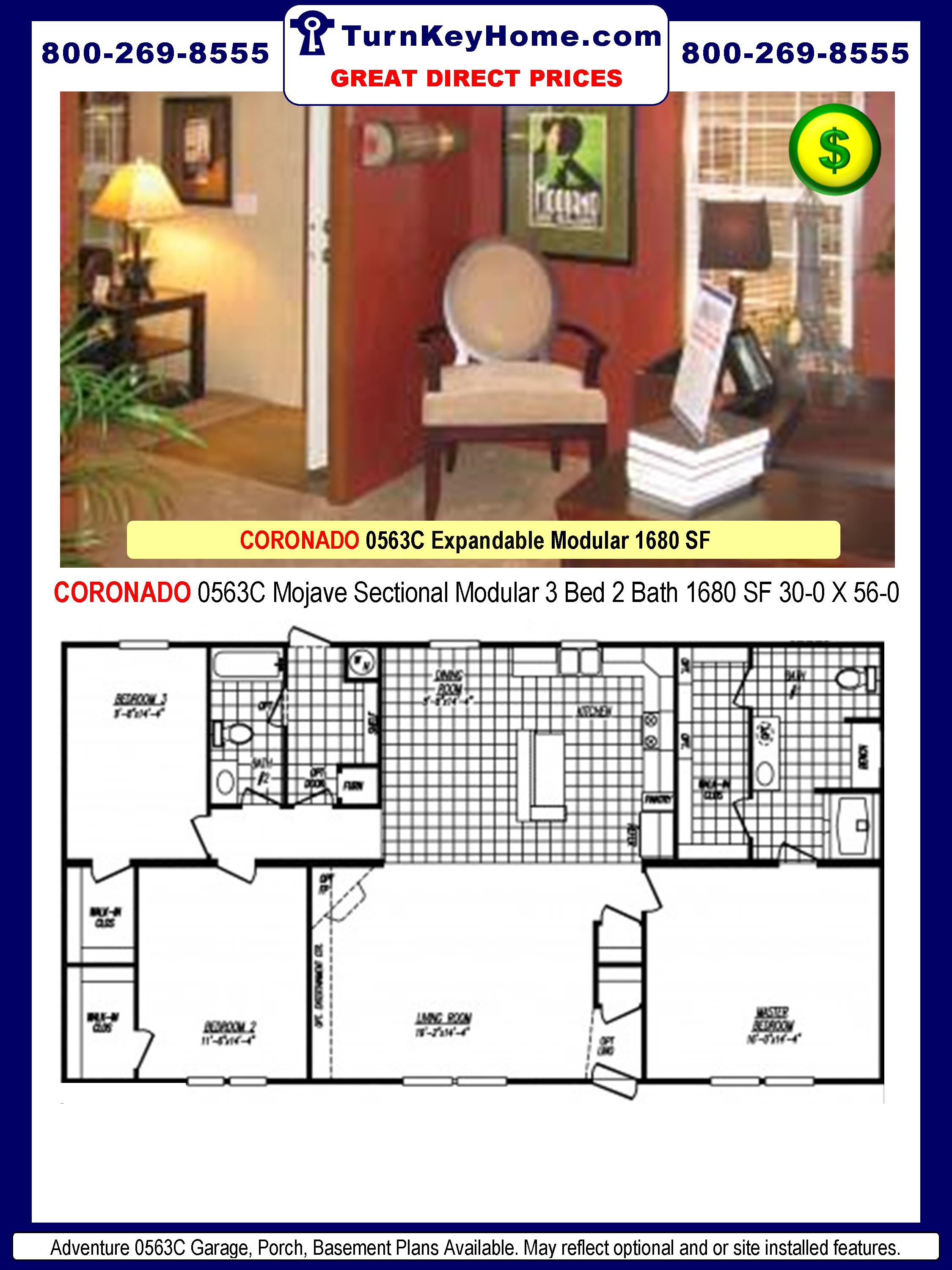 CORONADO: MODEL 0563C: 3 Bed: 2 Bath: Expandable Mobile Home Plan  | 2250 x 3000 · 516 kB · jpeg