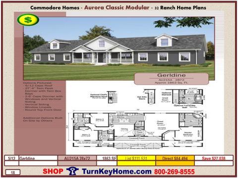 Modular.Commodore.Homes.Aurora.Classic.Ranch.Home.Series.Catalog.Page.13.Gerldine.Direct.Price.020115P