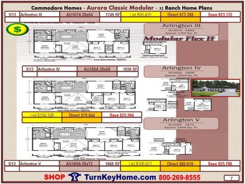 Modular.Commodore.Homes.Aurora.Classic.Ranch.Home.Series.Catalog.Page.7.Arlington.III.Arlington.IV.Arlington.V.Direct.Price.020315p