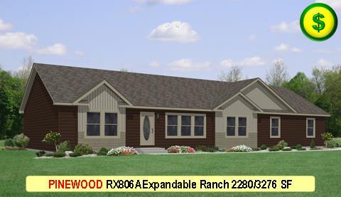 PINEWOOD RX806A Grandville LE Modular Series 4 Bed 2 Bath 2280 SF 30-0x76-0 480x277