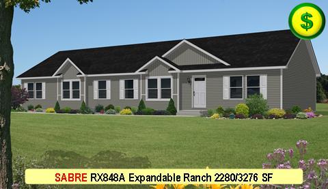 SABRE RX848A Grandville LE Modular Series 4 Bed 3 Bath 2280 SF 30-0x76-0 480x277