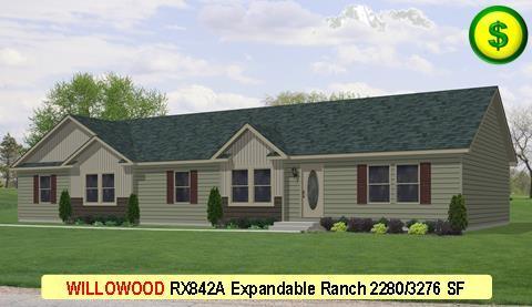 WILLOWOOD RX842A Grandville LE Modular Series 4Bed 3Bath 1493 SF 30-0x76-0 480x277