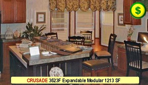 CRUSADE 3523F Mojave Sectional Modular 3 Bed 2 Bath 1213 SF 60-0 X 37-7 480x277