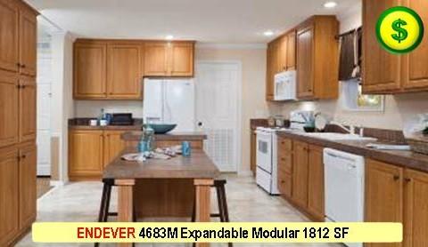 ENDEVER 4683M Mojave Sectional Modular 3 Bed 2 Bath 1812 SF 60-0 X 55-2 480x277