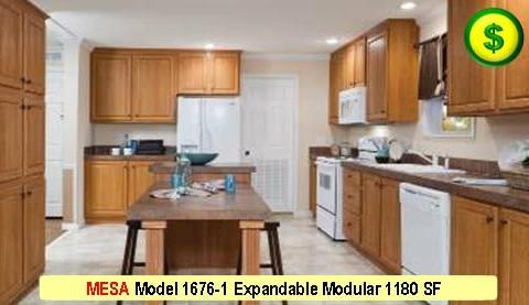 MESA Model 1676-1 Mojave Sectional Modular 3 Bed 2 Bath 1180 SF 13-4 X 76-0 480x277