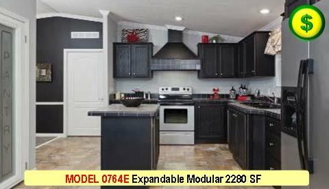MODEL 0764E Mojave Sectional Series Modular 4 Bed 2 Bath 2280 SF 60-0 X 43-1 480x277