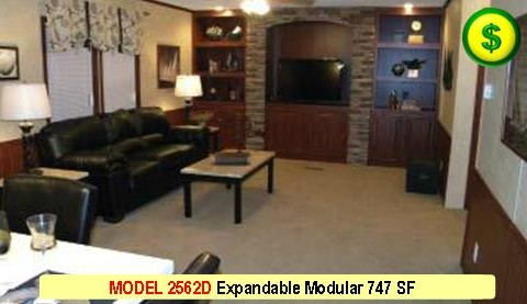 MODEL 2562D Mojave Sectional Modular 2 Bed 1 Bath 747 SF 13-4 X 56-0 480x277