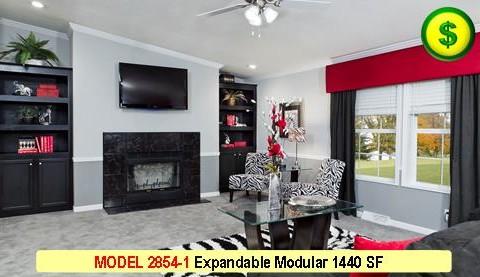 MODEL 2854-1 Sunset Royale Series 2 Bed 2 Bath 1440 SF 26-8 X 54-0 480x277