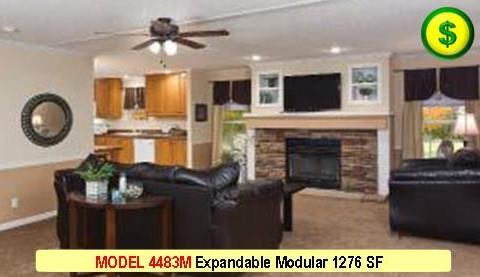 MODEL 4483M Mojave Sectional Series Modular 3 Bed 2 Bath 1276 SF 60-0 X 29-4 480x277