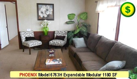 PHOENIX Model 6763H Mojave Sectional Modular 3 Bed 2 Bath 1180 SF 13-4 X 76-0 480x277
