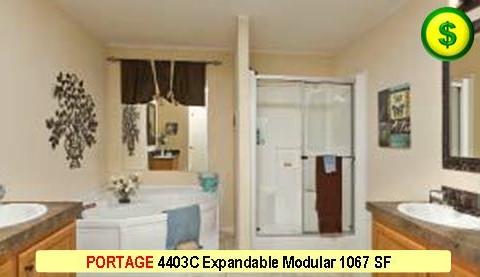 PORTAGE 4403C Mojave Sectional Modular 3 Bed 2 Bath 1173 SF 40-0 X 26-8 480x277