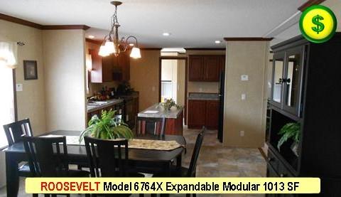 ROOSEVELT Model 6764X Mojave Sectional Modular 3Bed 2Bath 1013 SF 13-4X76-0 480x277