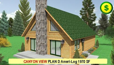 CANYON VIEW PLAN D Ameri-Log Series 3 Bed 3 Bath 1970 SF 52-0 X 28-0 480x277