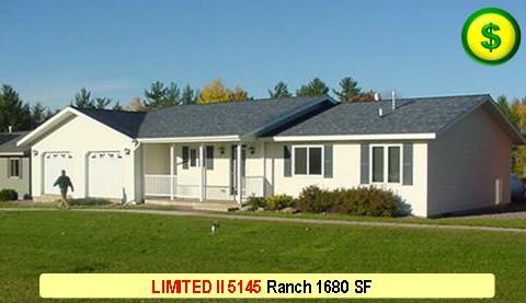 LIMITED II 5145 Ranch 3 Bed 2 Bath 1680 SF 28-0 X 60-0 480x277
