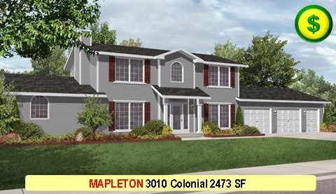 MAPLETON 3010 Colonial 4 Bed 3 Bath 2473 SF 28-0 X 54-0 480x277