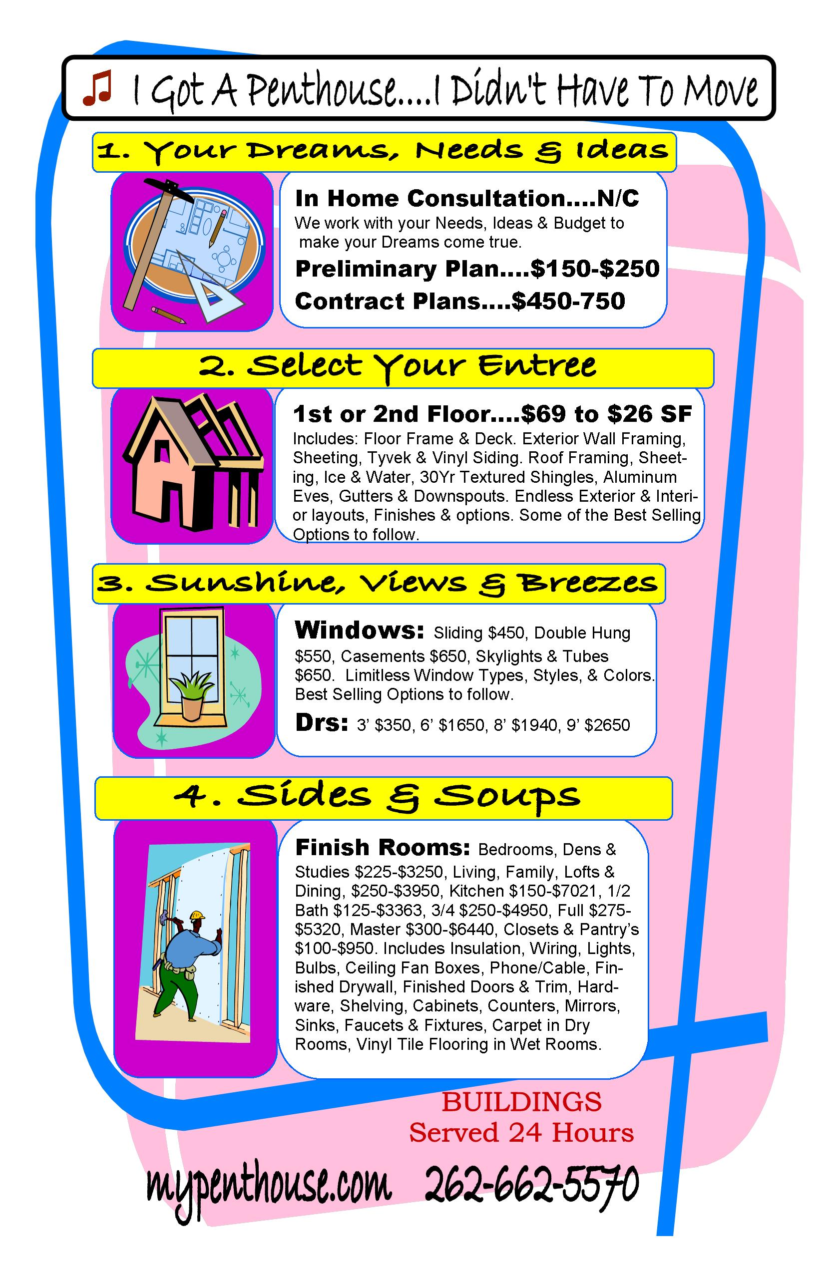 MyPenthouse com Home Addition Remodeling Menu. MyPenthouse com Home Addition Remodeling Menu   Modular Homes