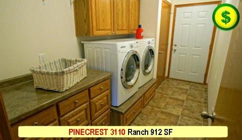 PINECREST 3110 Ranch 2 Bed 1 Bath 912 SF 28-0 X 38-0 480x277