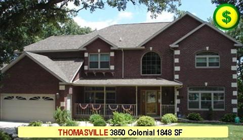 THOMASVILLE 3850 Colonial 3 Bed 3 Bath 1848 SF 28-0 X 40-0 480x277