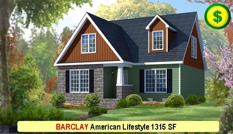 BARCLAY American Lifestyle Series 3 Bed 2.5 Bath 1315 SF 30-0 X 27-6 480x277