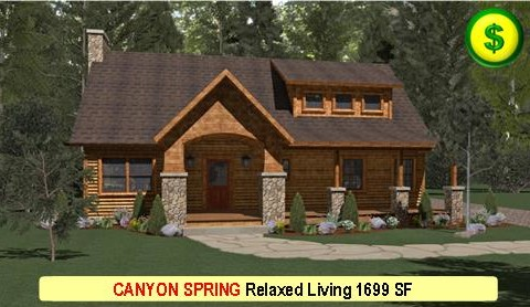 CANYON SPRING Relaxed Living Series 3 Bed 3 Bath 1699 SF 46-0 X 28-0 480x277