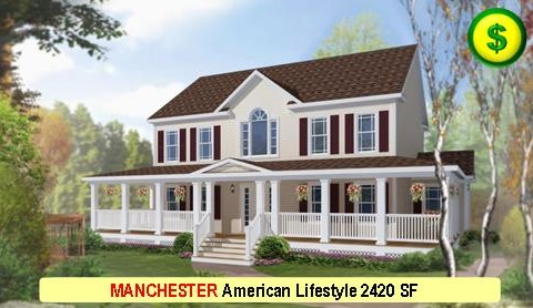 MANCHESTER American Lifestyle Series 4 Bed 3.5 Bath 2420 SF 56-0 X 27-0 480x277