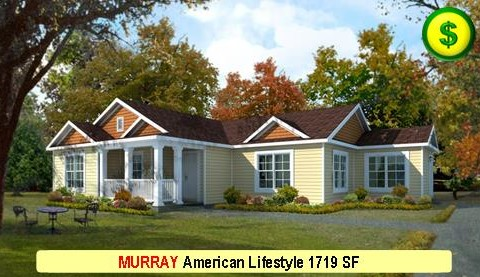 MURRAY American Lifestyle Series 3 Bed 2 Bath 1719 SF 56-0 X 41-0 480x277