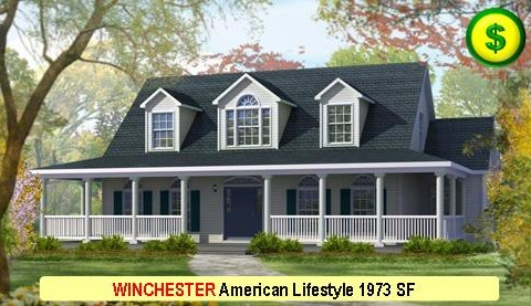 WINCHESTER American Lifestyle Series 3 Bed 2.5 Bath 1973 SF 56-0 X 27-0 480x277