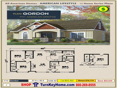 Modular.All.American.Homes.American.Lifestyle.Home.Series.Ranch.Plan.Catalog.Page.4.Gordon.Direct.Price.021315p