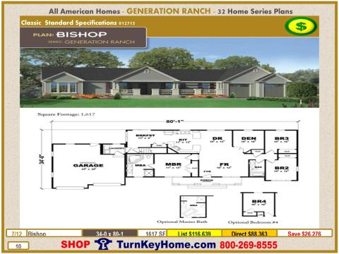 Modular.All.American.Homes.Generation.Ranch.Home.Series.Catalog.Page.10.Bishop.Direct.Price.021415p