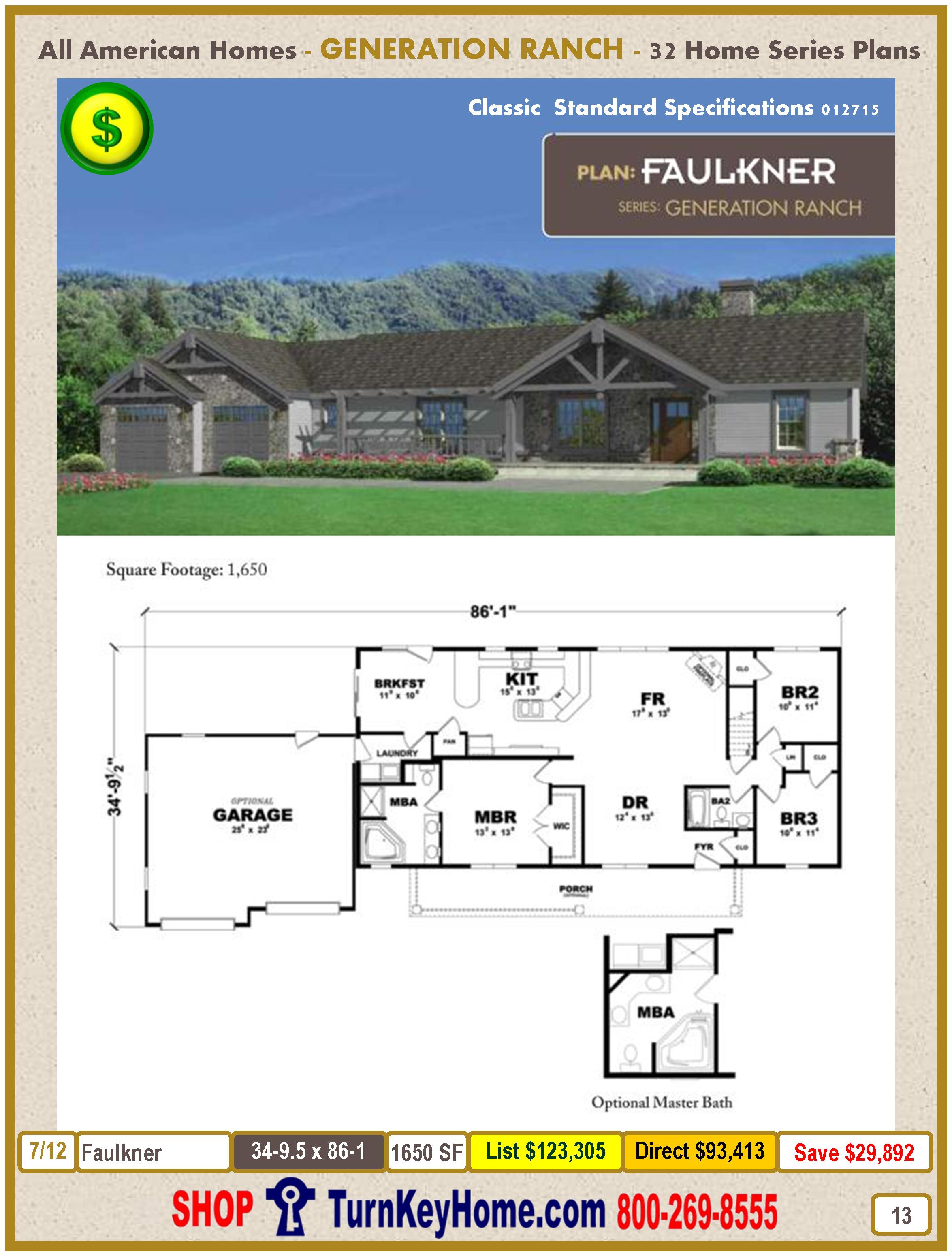 Modular.All.American.Homes.Generation.Ranch.Home.Series.Catalog.Page.13.Faulkner.Direct.Price.021415