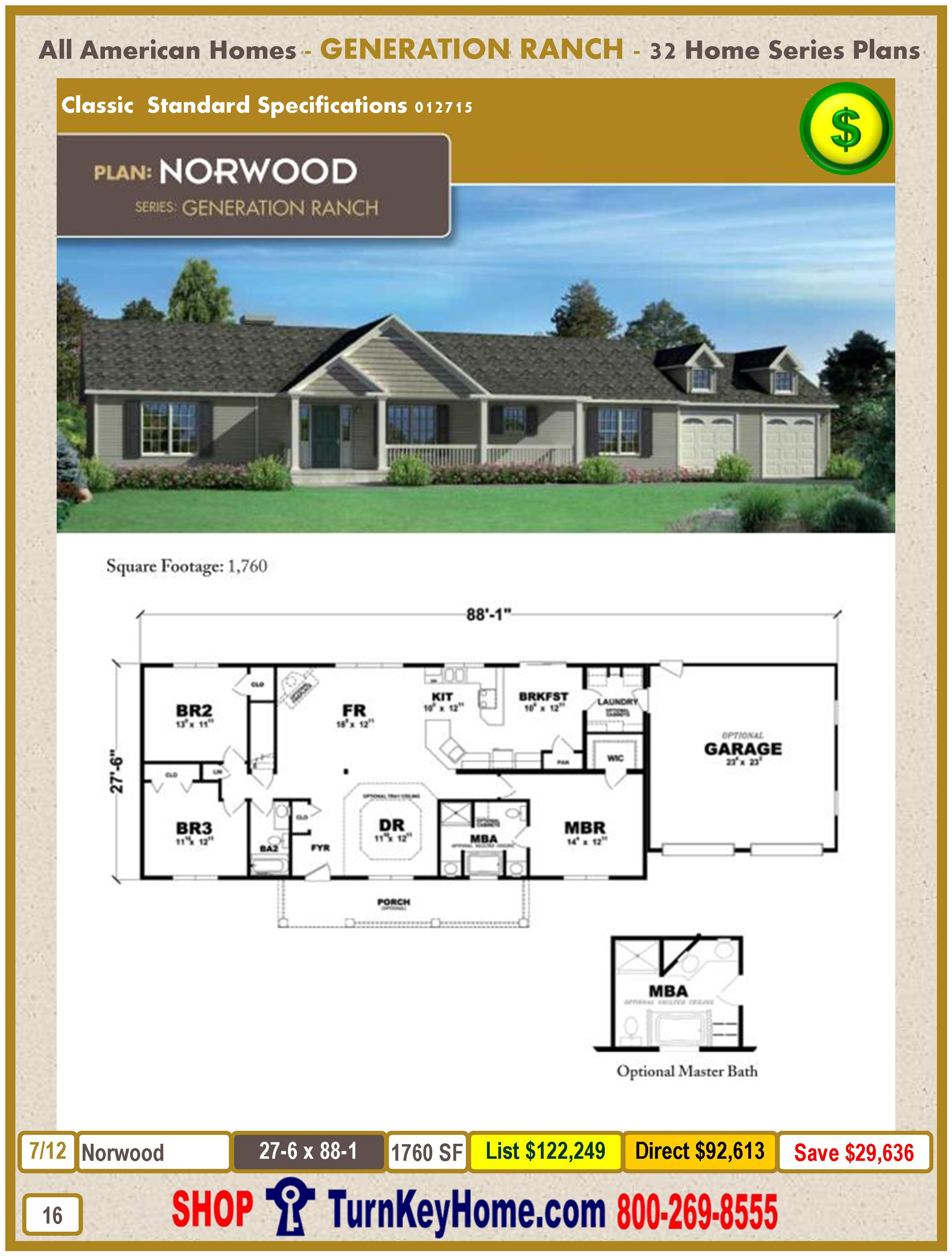 Modular.All.American.Homes.Generation.Ranch.Home.Series.Catalog.Page.16.Norwood.Direct.Price.021415