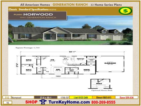 Modular.All.American.Homes.Generation.Ranch.Home.Series.Catalog.Page.16.Norwood.Direct.Price.021415p