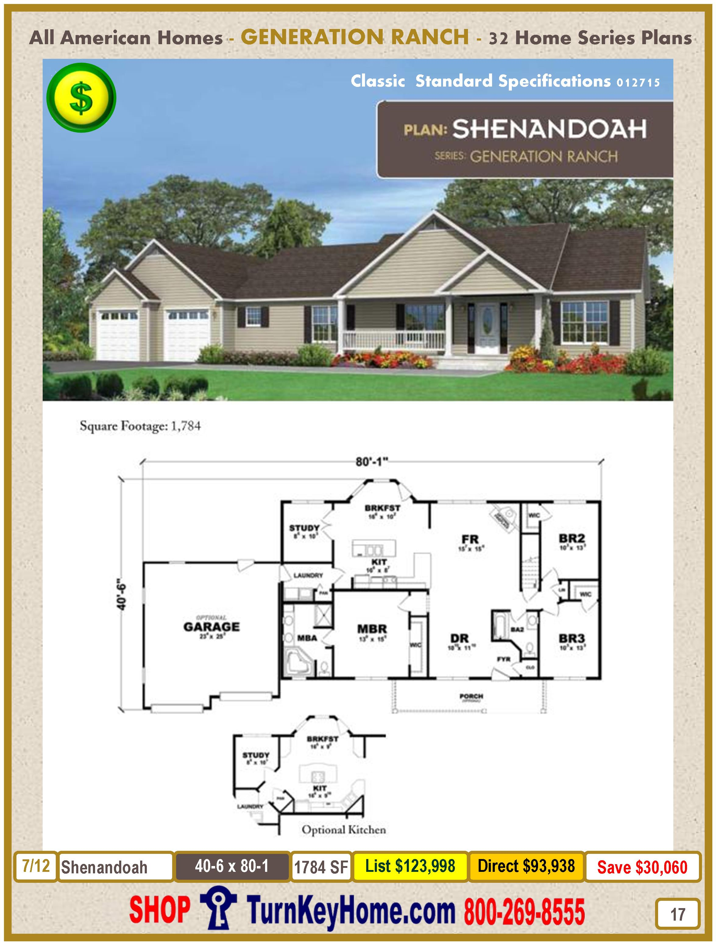 Modular.All.American.Homes.Generation.Ranch.Home.Series.Catalog.Page.17.Shenandoah.Direct.Price.021415