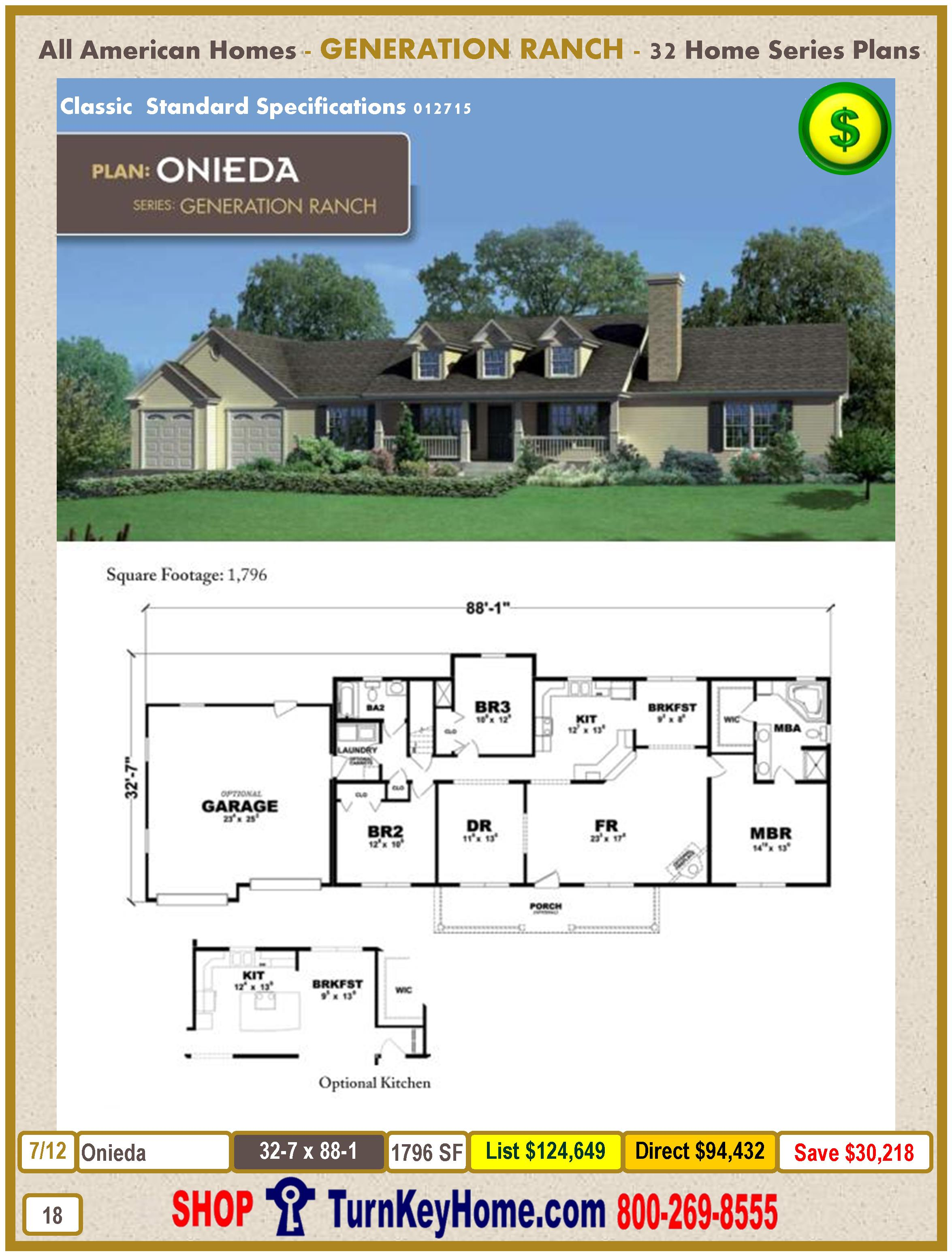 Modular.All.American.Homes.Generation.Ranch.Home.Series.Catalog.Page.18.Onieda.Direct.Price.021415