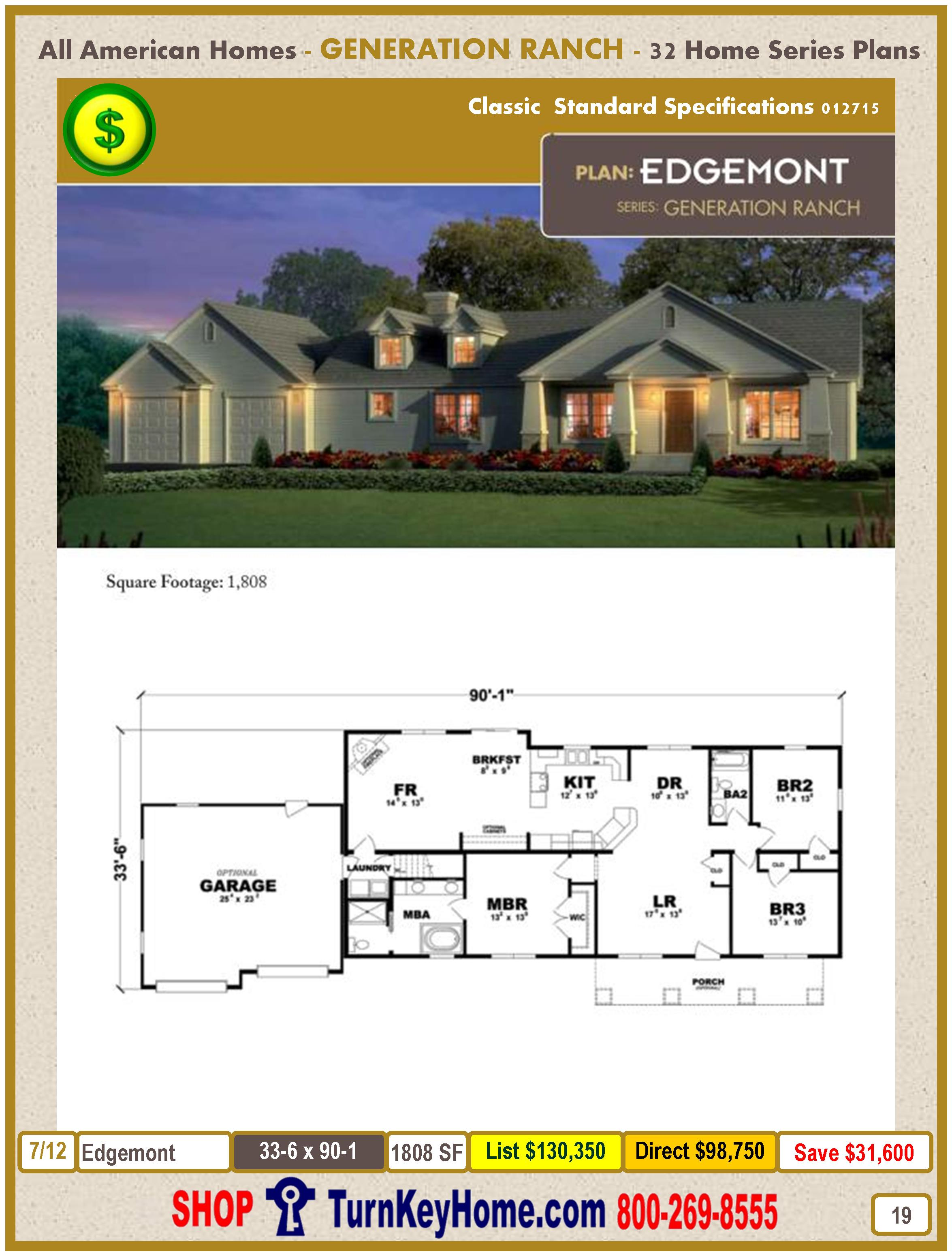 Modular.All.American.Homes.Generation.Ranch.Home.Series.Catalog.Page.19.Edgemont.Direct.Price.021415