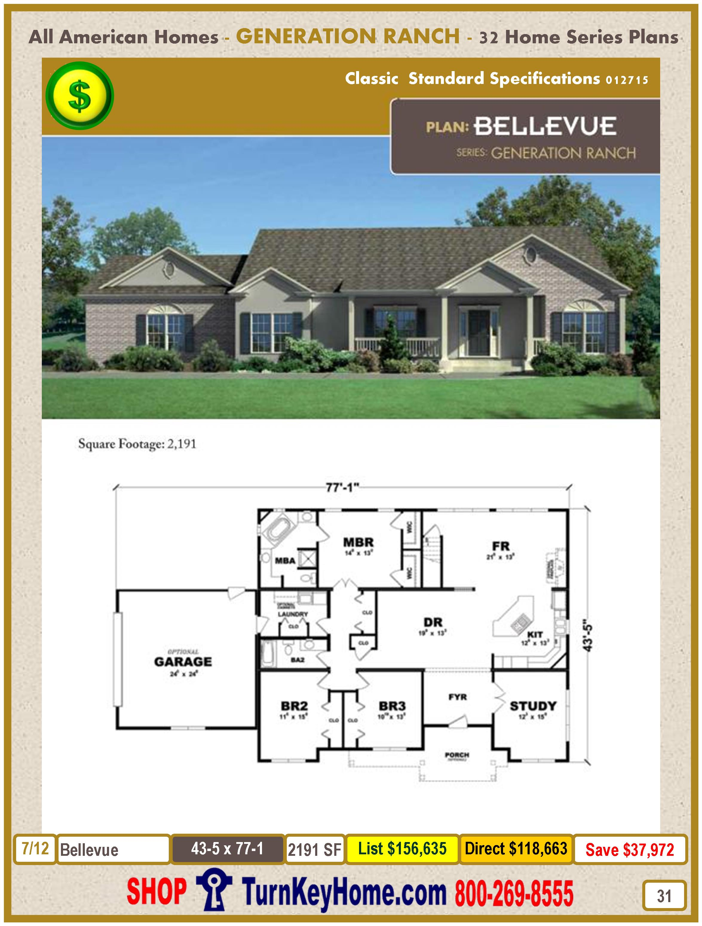 Modular.All.American.Homes.Generation.Ranch.Home.Series.Catalog.Page.31.Bellevue.Direct.Price.021415